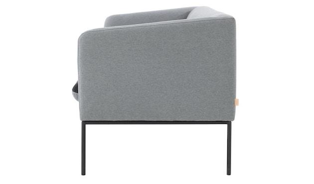 ferm LIVING - Turn 2-Sitzer Sofa - Baumwolle - hellgrau/dunkelgrau - 5