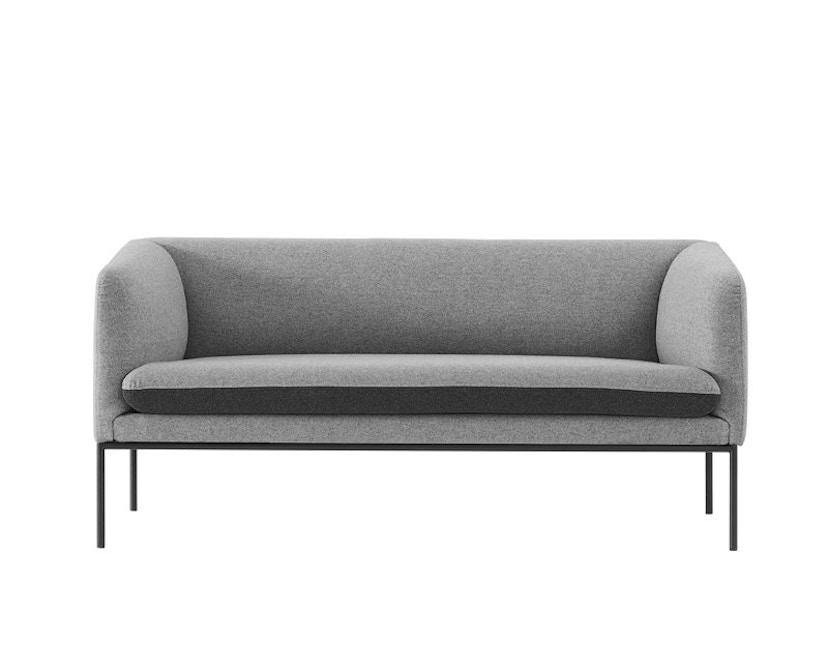 ferm LIVING - Turn 2-Sitzer Sofa - Baumwolle - hellgrau/dunkelgrau - 1