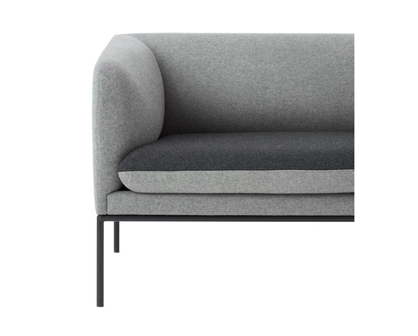 ferm LIVING - Turn 3-Sitzer Sofa - Baumwolle - hellgrau/dunkelgrau - 4