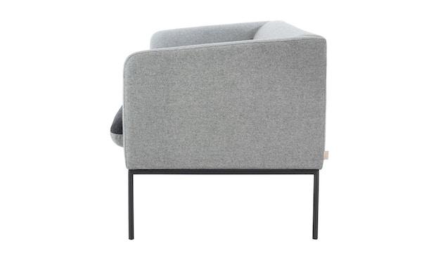 ferm LIVING - Turn 3-Sitzer Sofa - Baumwolle - hellgrau/dunkelgrau - 5