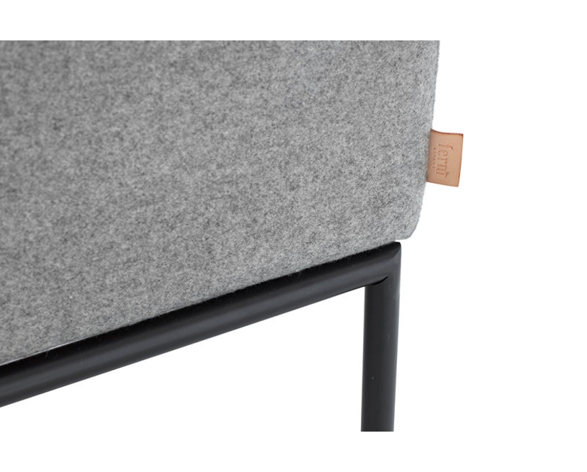 ferm LIVING - Turn 3-Sitzer Sofa - Baumwolle - hellgrau/dunkelgrau - 6