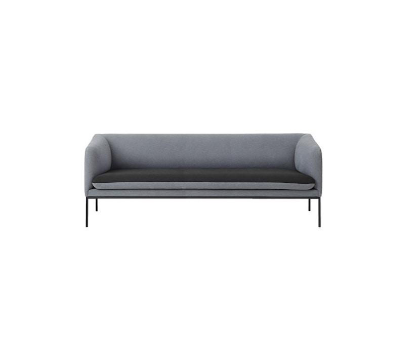 ferm LIVING - Turn 3-Sitzer Sofa - Baumwolle - hellgrau/dunkelgrau - 3