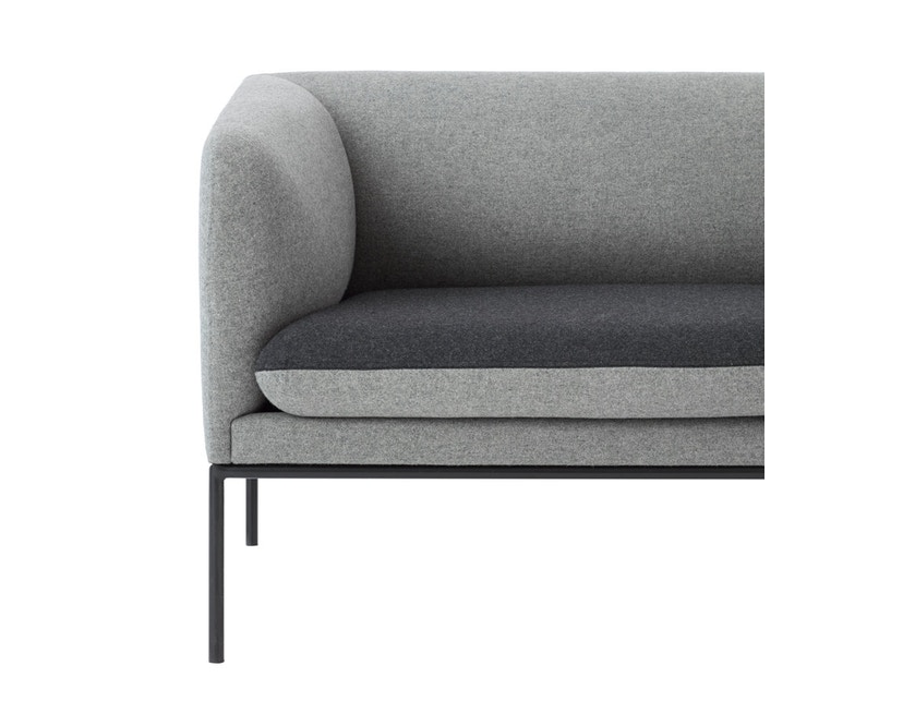 ferm LIVING - Turn 3-Sitzer Sofa - Wolle - hellgrau/dunkelgrau - 4