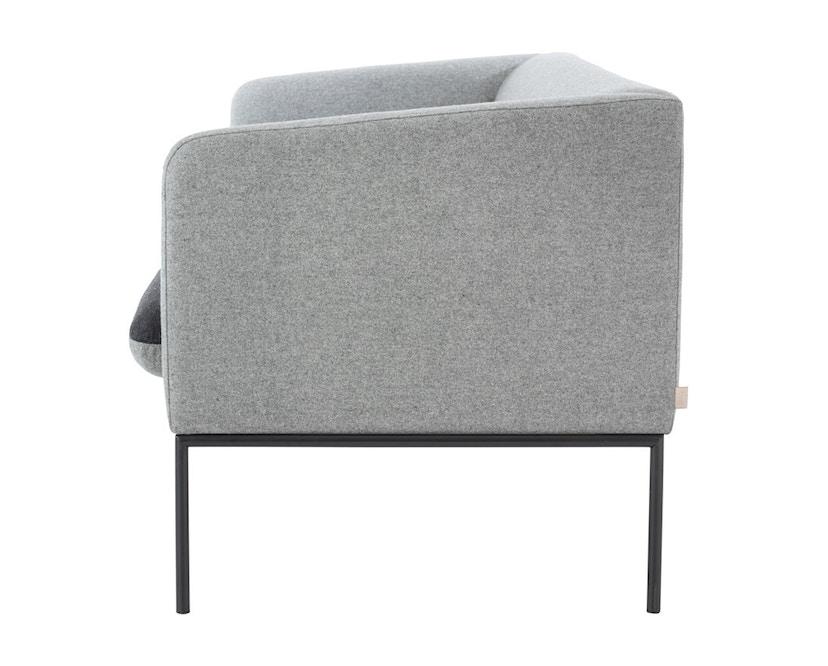ferm LIVING - Turn 3-Sitzer Sofa - Wolle - hellgrau/dunkelgrau - 5