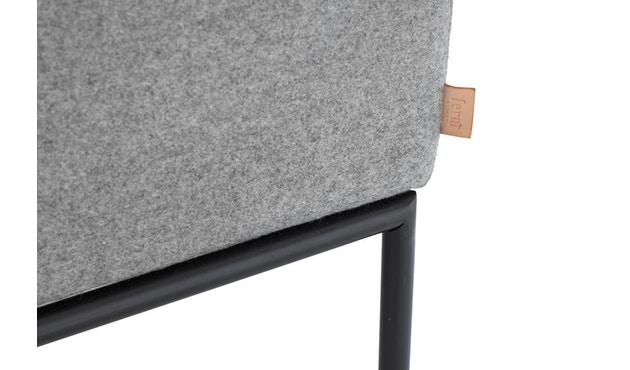 ferm LIVING - Turn 3-Sitzer Sofa - Wolle - hellgrau/dunkelgrau - 6