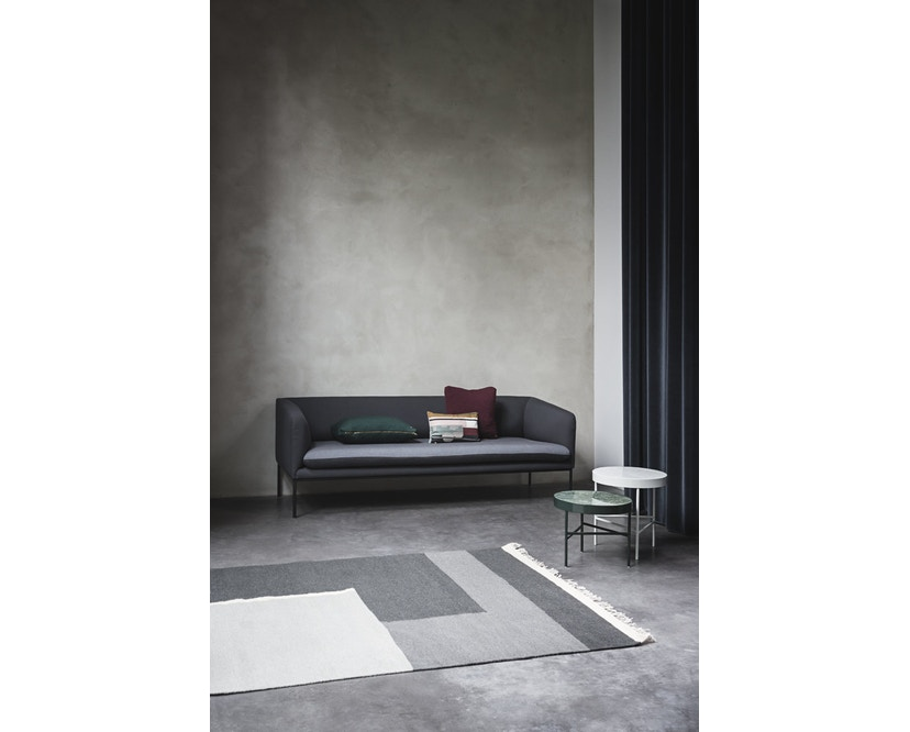 ferm LIVING - Turn 3-Sitzer Sofa - Wolle - hellgrau/dunkelgrau - 7