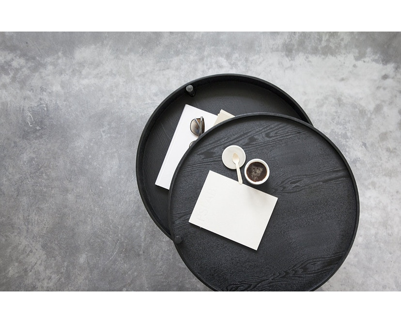 Menu - Turning Table bijzettafel - witte eik - 10