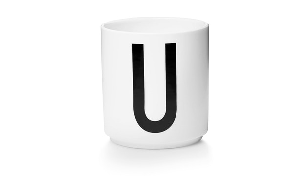 DESIGN LETTERS - Personal Porzellanbecher - weiß - U - 1