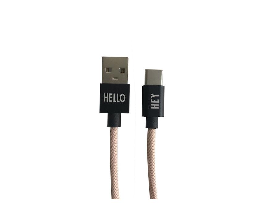 DESIGN LETTERS - Câble de recharge HEY  - USBC - nude - 1