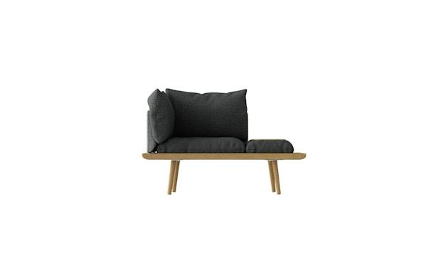 Lounge Around 1 1/2 Seater Sofa - Dark Grey/Oak
