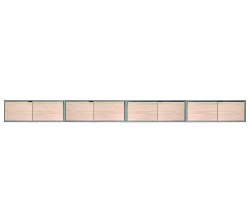 HAY - New Order wand - sideboard - groen - Eiken natuur - 1