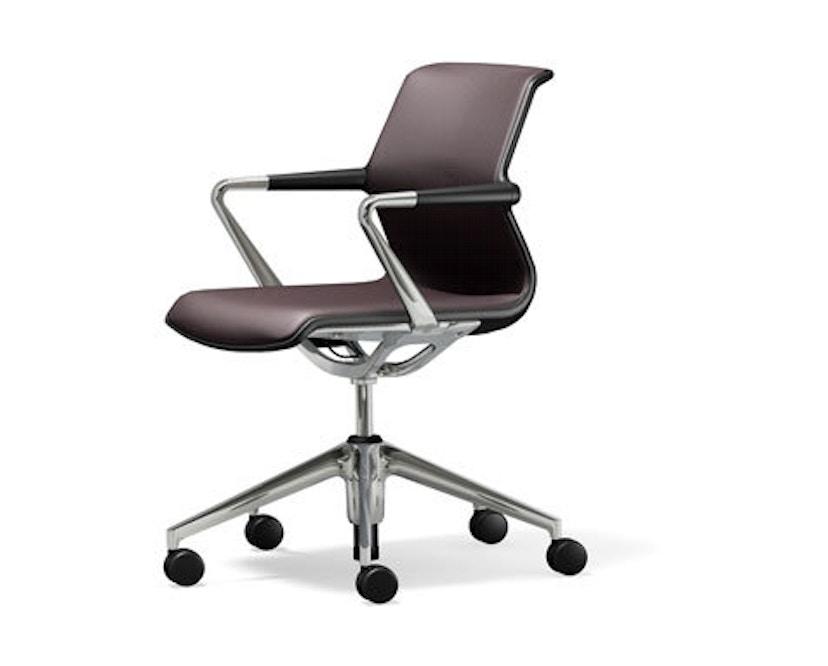 Vitra - Unix Chair met vijfsterren-frame - Silk Mesh bruin - 1
