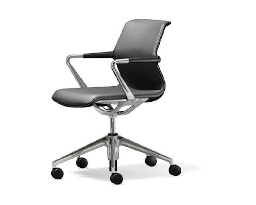 Vitra - Unix Chair Fünfstern-Untergestell - Silk Mash dimgrey - 1