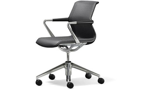Vitra - Unix Chair met vijfsterren-frame - Diamond Mesh dimgrey - 1