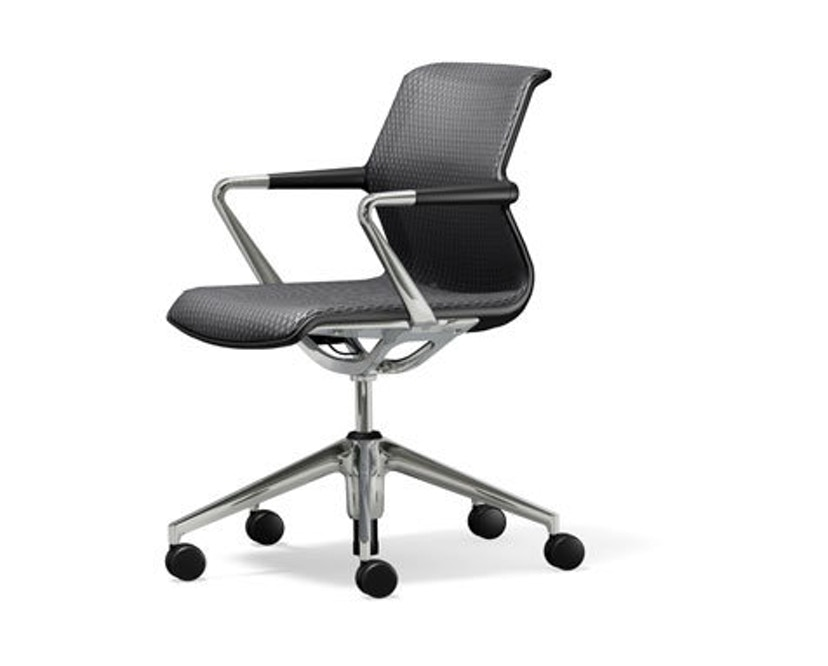 Vitra - Unix Chair - structure à cinq branches - Diamond Mesh dimgrey - 1