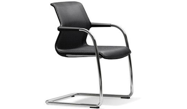 Vitra - Chaise cantilever Unix Chair - Diamond Mesh dimgrey - noir - 1