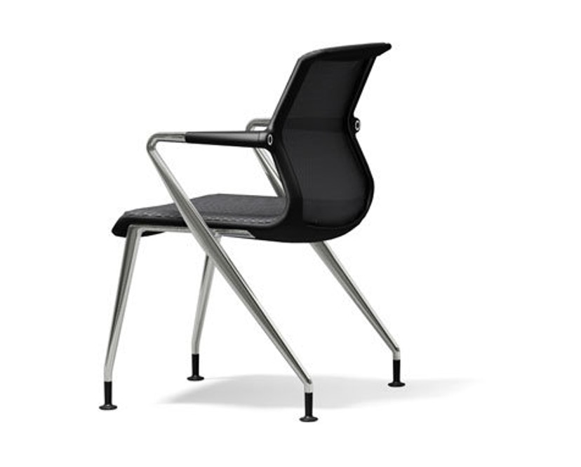 Vitra - Unix  Chair met vier poten - Diamond Mesh dimgrey - 1