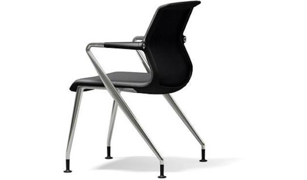Vitra - Unix  Chair met vier poten - Silk Mesh dimgrey - 1
