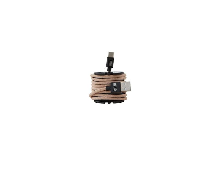 DESIGN LETTERS - Câble de recharge HEY  - USBC - nude - 2