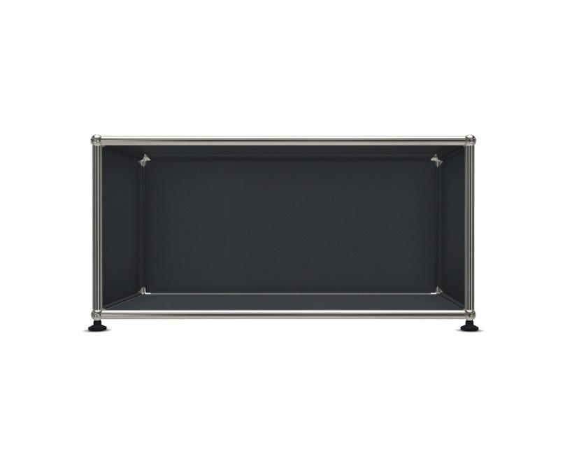 USM Haller - Board 1 x 1 élément - ouvert - 33 gris anthracite - 1