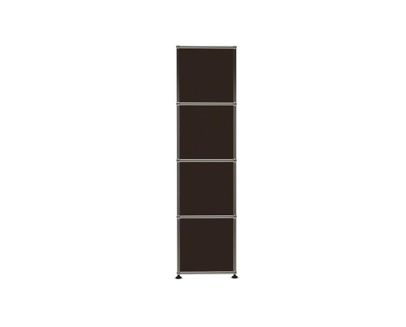USM Haller - Board 1 x 4 elementen - Open - Open - Open - 22 bruin - Open - 3