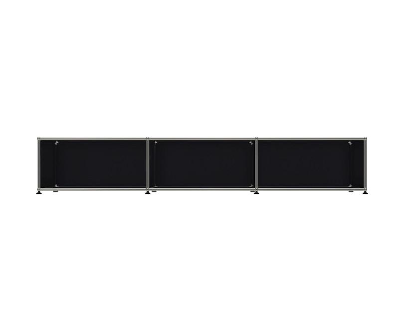 USM Haller - Board 3 x 1 element - Open - 30 grafietzwart - 1