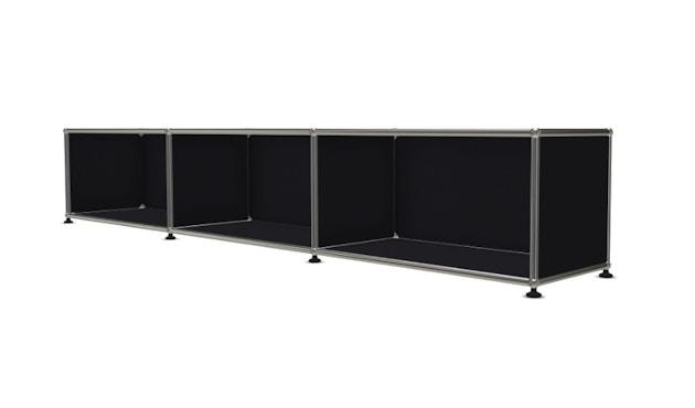 USM Haller - Board 3 x 1 element - Open - 30 grafietzwart - 2