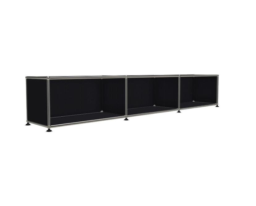 USM Haller - Board 3 x 1 element - Open - 30 grafietzwart - 4