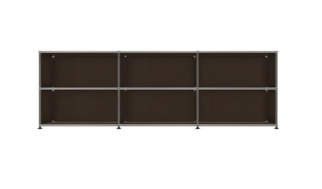 USM Haller - Board 3 x 2 elementen - Open - Open - 22 bruin - 1