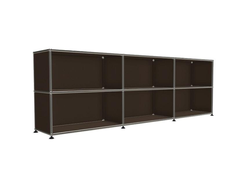 USM Haller - Board 3 x 2 elementen - Open - Open - 22 bruin - 4