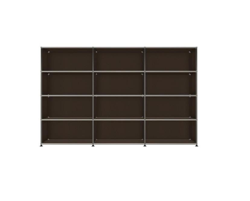 USM Haller - Board 3 x 4 éléments - ouvert - 22 maron - ouvert - ouvert - ouvert - 1