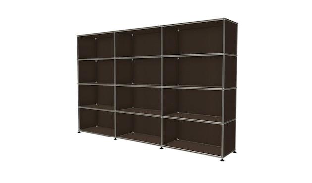 USM Haller - Board 3 x 4 elementen - 22 bruin - Open - Open - Open - Open - 2
