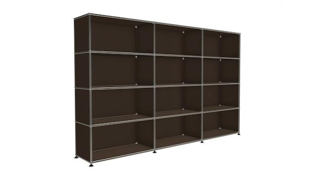 USM Haller - Board 3 x 4 elementen - 22 bruin - Open - Open - Open - Open - 4