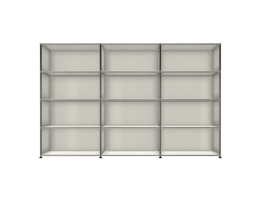 USM Haller - Board 3 x 4 éléments - ouvert - ouvert - 24 blanc pur - ouvert - ouvert - 1