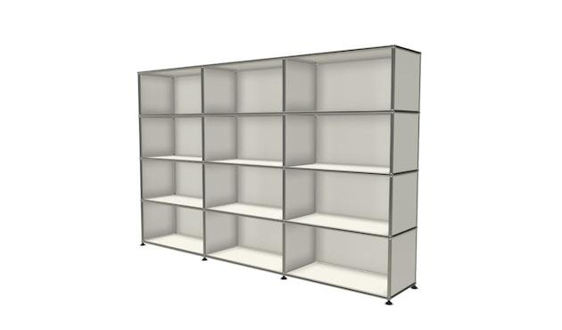 USM Haller - Board 3 x 4 éléments - ouvert - ouvert - 24 blanc pur - ouvert - ouvert - 2