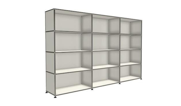USM Haller - Board 3 x 4 éléments - ouvert - ouvert - 24 blanc pur - ouvert - ouvert - 4