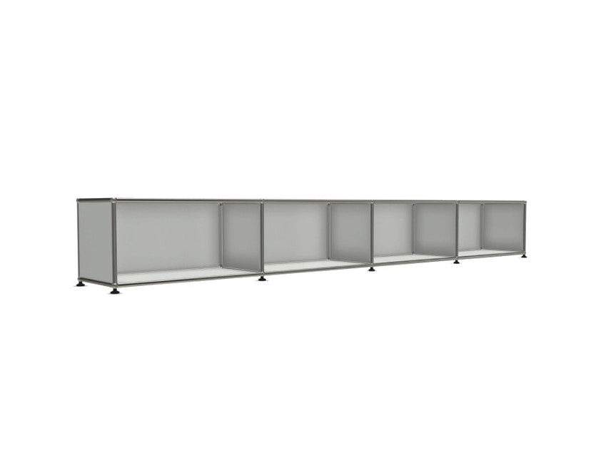 USM Haller - Board 4 x 1 element - Open - 29 lichtgrijs - 4