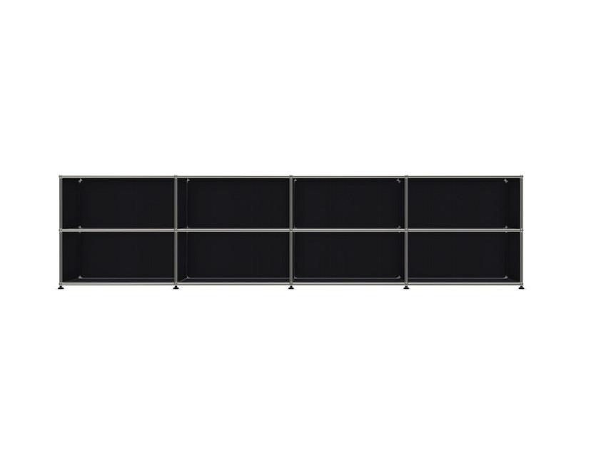 USM Haller - Board 4 x 2 éléments - ouvert - 30 noir graphite - ouvert - 1