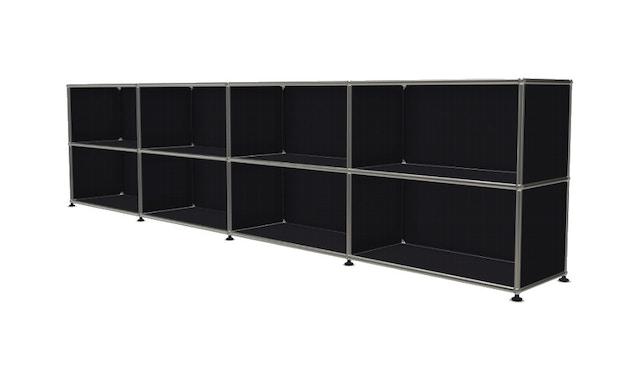 USM Haller - Board 4 x 2 éléments - ouvert - 30 noir graphite - ouvert - 2