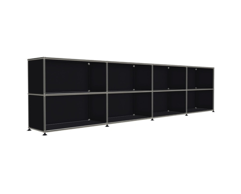 USM Haller - Board 4 x 2 éléments - ouvert - 30 noir graphite - ouvert - 4