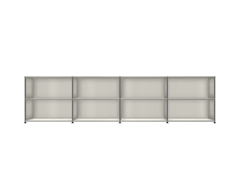 USM Haller - Board 4 x 2 éléments - ouvert - ouvert - 24 blanc pur - 1