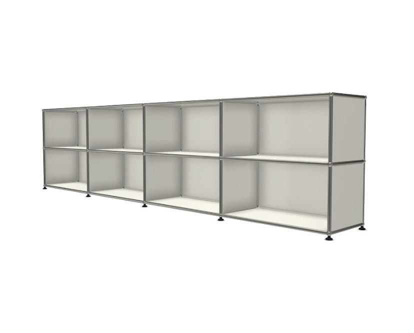 USM Haller - Board 4 x 2 éléments - ouvert - ouvert - 24 blanc pur - 2