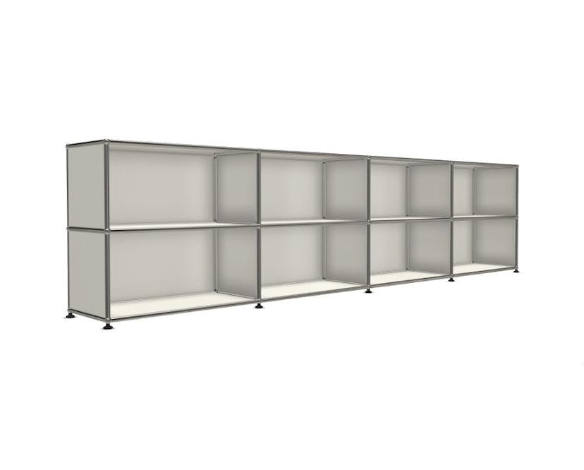USM Haller - Board 4 x 2 éléments - ouvert - ouvert - 24 blanc pur - 4