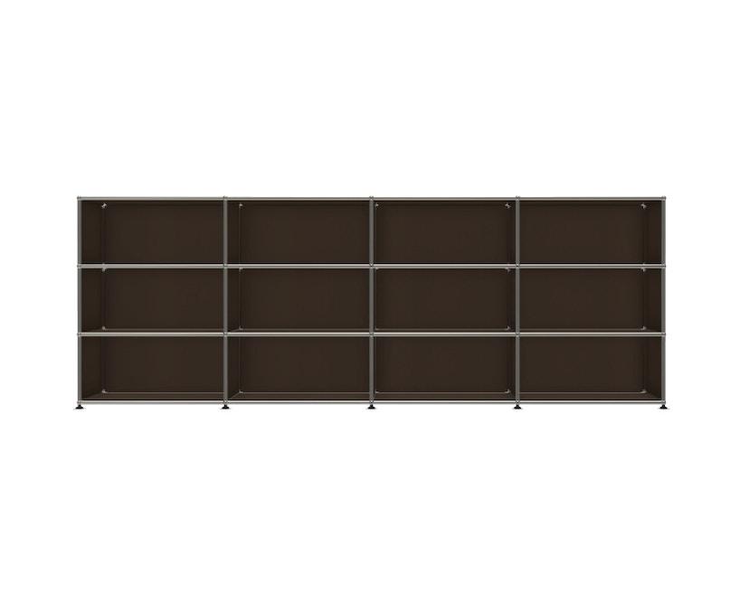 USM Haller - Board 4 x 3 elementen - Open - Open - 22 bruin - Open - 1
