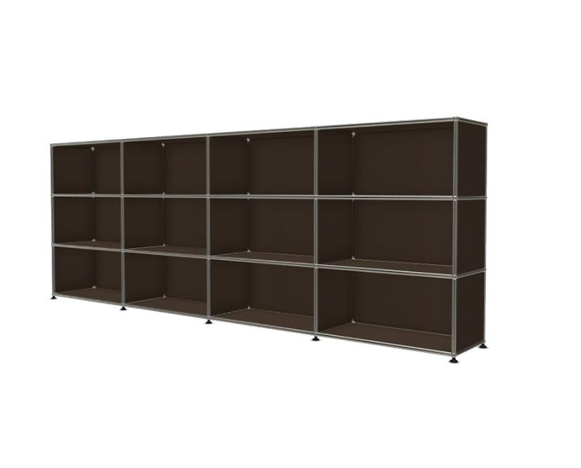 USM Haller - Board 4 x 3 elementen - Open - Open - 22 bruin - Open - 2