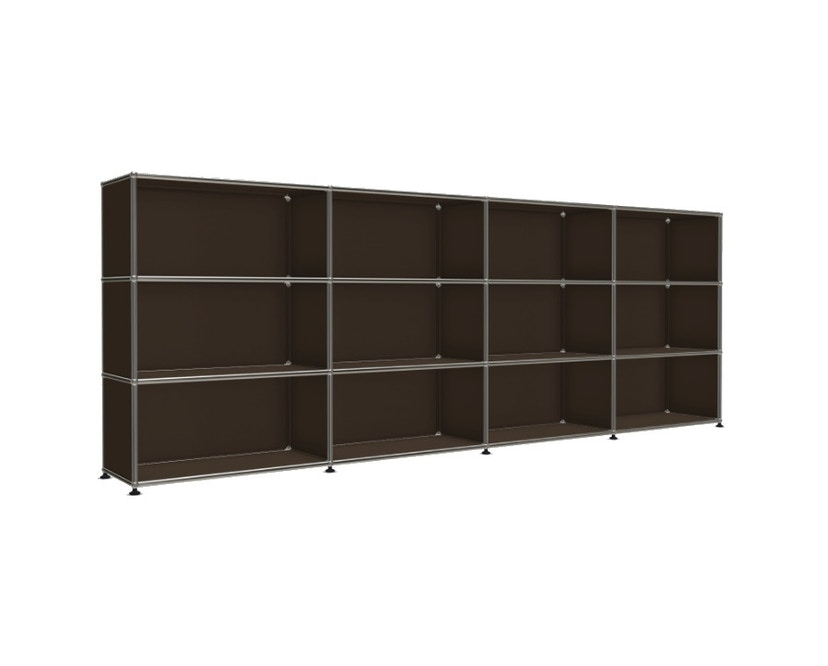 USM Haller - Board 4 x 3 elementen - Open - Open - 22 bruin - Open - 4