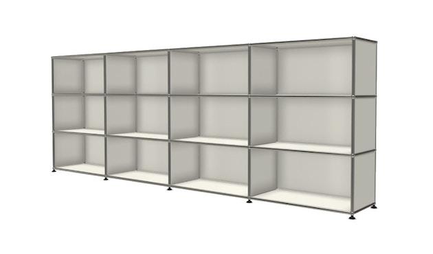 USM Haller - Board 4 x 3 elementen - Open - Open - Open - 24 zuiverwit - 2