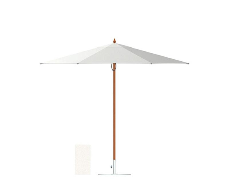 Tuuci - Vineyard fiberflex zonnescherm - natuurwit - 2,3 m vierkant - 1
