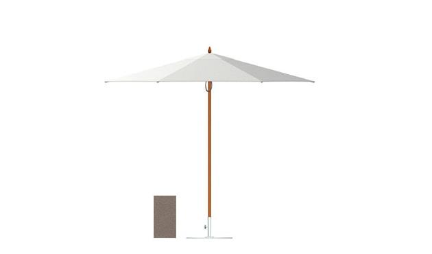 Tuuci - Vineyard fiberflex Sonnenschirm  - taupe - 2,25 m quadratisch - 1