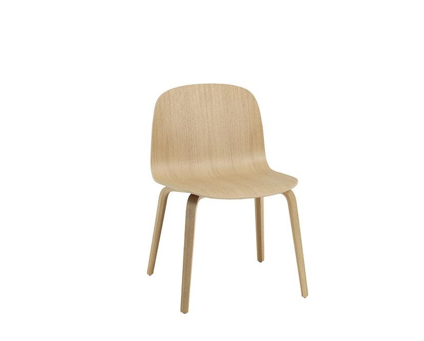 Muuto - Visu Wide Stuhl - Holzgestell eiche/eiche - 2